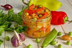 Салат из сладкого перца с цуккини и горошком. Пошаговый рецепт с фото…