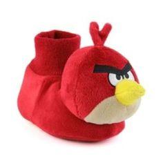 Angry Birds Plush Red Soft Slipper Socks Top Boys / Girls Size 7/8 NWT