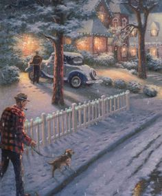 Thomas Kinkade's November release Hometown Christmas Memories.