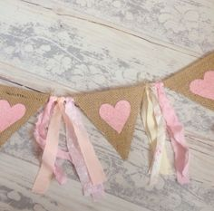 Please ask if you have any specific requirements! 1st Birthday Girl Decorations, Valentines Day Decorations, 1st Birthday Girls, Diy Crafts To Do, Homemade Crafts, Paper Crafts, Pink Bunting, Bunting Flags, Buntings