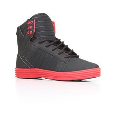 Skytop Lite Black Raptor TUF Sneakers by Supra ($57) ❤ liked on Polyvore featuring men's fashion, men's shoes, men's sneakers, mens black high top sneakers, mens lace up shoes, mens black shoes, mens black hi top sneakers and mens high top sneakers