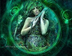 Les anciens m'appelaient Gaia Je suis la Déesse de la Terre-mère Souviens -toi C'est moi qui ai enfanté le Monde Qui l'ai fait jaillir de mes profondeurs` Au coeur de mon Giron Rempli de feu et de sang à la puissance d'un volcan bouillonnant J' accouche...