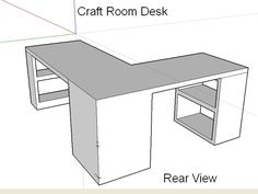 Craft Room Desk Design