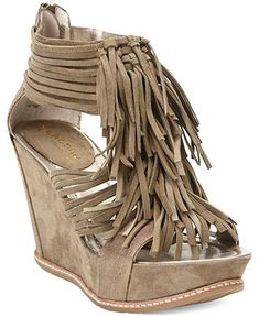 Kenneth Cole Reaction Bigswell Fringe Wedge Sandals