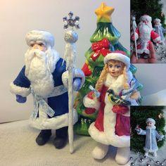 Дед Мороз из ваты и Снегурочка - игрушка из ваты – купить в интернет-магазине на Ярмарке Мастеров с доставкой