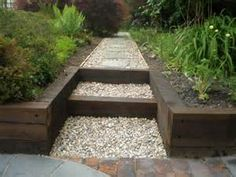 railroad timber short retaining wall