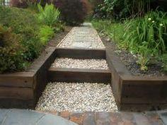 railroad timber short retaining wall