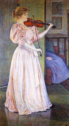 TICMUSart: Portrait of Irma Sethe - Theo van Rysselberghe (18... (I. M.)