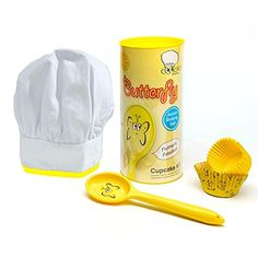 Childrens/Kids Character Cupcake Baking Set (One Size) (Yellow/White) *** Additional details at the pin image, click it : Kids Baking Supplies Baking Set, Baking With Kids, Childrens Cupcakes, Character Cupcakes, Cooking Cake, Kid Character, Baking Supplies, Cooking Tools