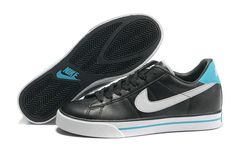 Nike Sweet Classic Leather Tech Tuff Low Black Turquoise 318333 033 Mens Casual Shoes