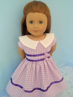 American Girl Doll Dress 18 Inch Doll Clothes by izzadorabelle