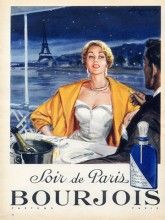 Bourjois (Perfumes) 1956 Soir De Paris, Eiffel Tower, Raymond  Brénot