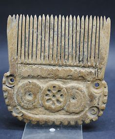 RARE ANCIENT ROMAN BONE CARVED DECORATED HAIR COMB 3RD-4TH CENTURY AD