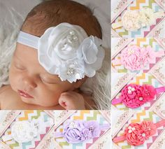 6pcs Kids Girl Baby Toddlers Infant Flower Headband Hair Bow Band Accessories