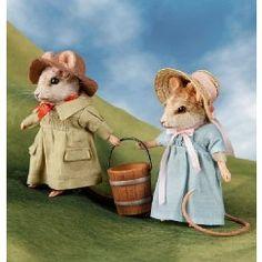 R John Wright Jack and Jill Mouse Set