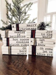 Stamped book/stamped book set/book bundle/book set/Christmas stamped book/Christmas book set/Christm - New Books Days Till Christmas, Christmas Books, Christmas Signs, Christmas Projects, Christmas Themes, Holiday Crafts, Christmas Crafts, Christmas Decorations, Book Decorations