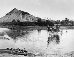 "Tempe Butte, ""A"" Moutain, circa 1870"
