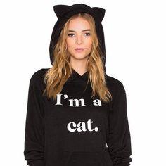 I'm a Cat Sweat à Capuche