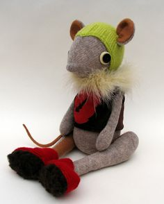 Woollen Mouse by skippityhopcreatures