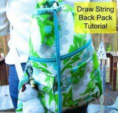 Joy's Jots, Shots & Whatnots: Draw String Back Pack Tutorial
