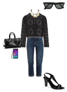 """OOTD 08/03/2016"" by ladykbaez on Polyvore featuring beauty, MiH Jeans, Temperley London, Samsung, Coach, Lafayette 148 New York, CHARLES & KEITH and Ray-Ban"