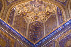 Corner of the mosque of the Tilla-Kari medressa | Registan ...
