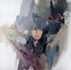 love this. smudged painting