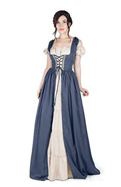 Renaissance Medieval Irish Costume Over Dress & Boho Chem... https://www.amazon.com/dp/B071G1JXQ2/ref=cm_sw_r_pi_dp_x_DLWwzb45GV83W?utm_content=buffer6ab6b&utm_medium=social&utm_source=pinterest.com&utm_campaign=buffer