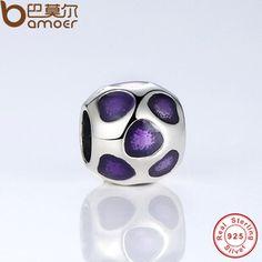 纯银珠子 s925 diy手链配件 滴胶心形纯银散珠子