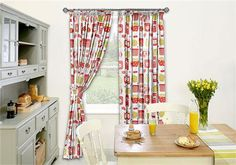 Scrumptious Poppy Red Curtains