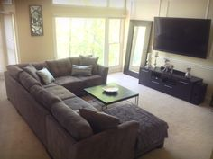 gray sectional in our family room