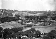 Lisboa de Antigamente: Lançamento da primeira pedra do monumento ao Marquês de Pombal