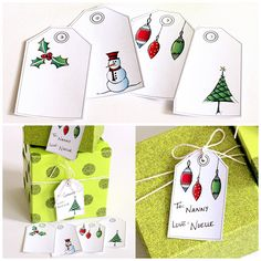 FREE Printable. Save some time and money this holiday by printing these free hand drawn printable Christmas gift tags - for all your gift wrapping this year.
