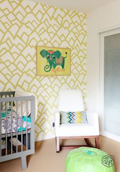 Get the Look: Quirky Modern Style Nursery via momsbestnetwork.com