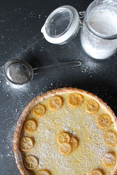 Meyer Lemon + Cardamom Tart