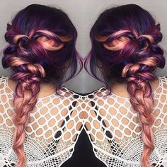 Sooo pretty ... Purple and rose gold melt #regram @pink_nouveau #americansalon
