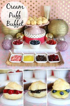 Cream Puff Buffet - love this idea for a little girl's tea party.