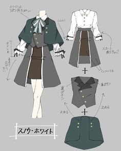 Manga Clothes, Drawing Anime Clothes, Dress Drawing, Fashion Design Drawings, Fashion Sketches, Clothing Sketches, Anime Drawings Sketches, Drawing Reference Poses, Character Outfits