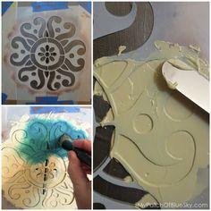 Wood Icing™, Textura Paste, project, texture, stencil, stencil creme, Royal Design Studio