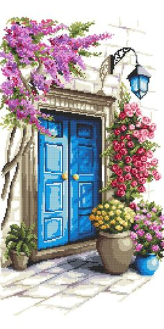 Cross Stitch House, Xmas Cross Stitch, Cross Stitch Heart, Cross Stitch Flowers, Cross Stitching, Hand Embroidery Art, Embroidery Flowers Pattern, Cross Stitch Embroidery, Hardanger Embroidery