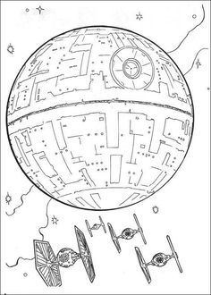 The Headquarters Of The Star Wars Coloring Pages
