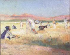 Peinture Algérie - La récolte en Algérie par Paul Alexandre Alfred Leroy