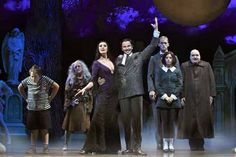 "Theatrical cosplay - halloween // Patrick D. Kennedy (Pugsley), Pippa Pearthree (Grandma), Sara Gettelfinger (Morticia), Douglas Sills (Gomez), Tom Corbeil (Lurch), Cortney Wolfson (Wednesday) and Blake Hammond (Uncle Fester) in ""The Addams Family""."