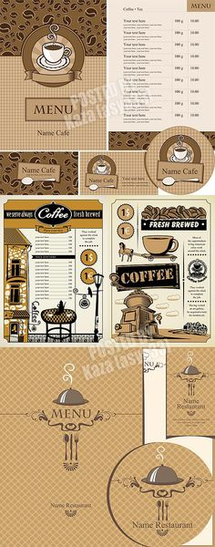 Modern cafe menu designs vector Free Vector Graphic Resources - fresh invitation template vector