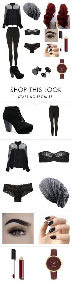 """office"" by darkroselife on Polyvore featuring Topshop, Gucci, Wacoal, Hollister Co., Incoco, Chanel and Nine West"
