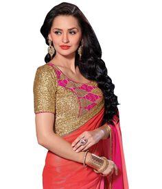 Elijaah Pink Georgette Saree Georgette Sarees, Sarees Online, Pretty In Pink, Festive, Sari, Shopping, Collection, Fashion, Saree