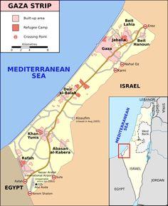 Map of Gaza Strip, Stand December 2008 (SVG version of File:Gaza Strip map.png by Lencer) ◆Gaza Strip - Wikipedia http://en.wikipedia.org/wiki/Gaza_Strip #Gaza_Strip