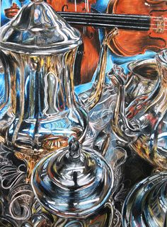 Resultado de imagem para reflections,shines and transparency in watercolors Advanced Higher Art, Still Life Artists, Reflection Art, Unique Drawings, Ap Studio Art, Object Drawing, Still Life Drawing, Ap Art, Gcse Art