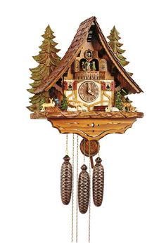 From the Black Forest to your door: Order Cuckoo Clock Chalet-Style by Anton Schneider ( for USD at the Cuckoo-Palace. Coo Coo Clock, Black Forest Germany, Forest And Wildlife, Forest Scenery, Clock Shop, Chalet Style, Clocks For Sale, Antique Clocks, Vintage Clocks