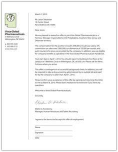 sample offer letter for house